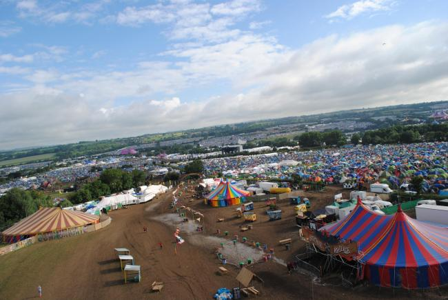 SITE: The Glastonbury Festival site. PICTURE: Paul Jones