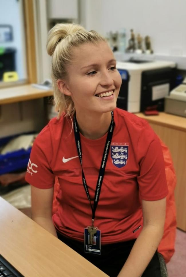 VOICE: Rosie May has been appointed as a youth representative to the English Colleges Football Association
