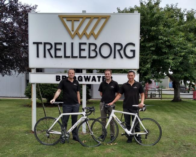 INCENTIVE: Trelleborg workers who took part in the Bridgwater Way workplace challenge