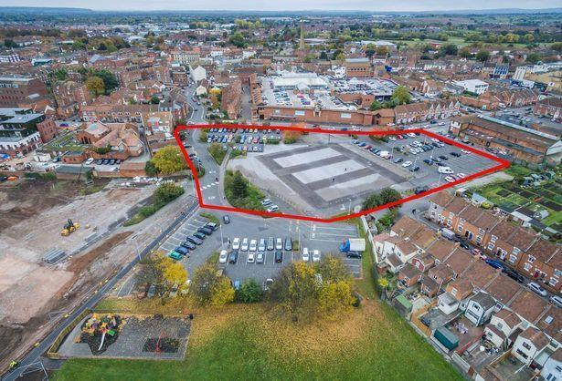 PROPOSALS: Aerial photo of the Northgate site in Bridgwater