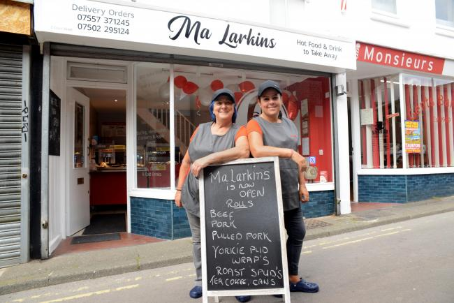 NEW: Lynn Kelly and Paula Cranbrook from Ma Larkins, a new lunchtime takeaway selling hot sandwiches in Bridgwater