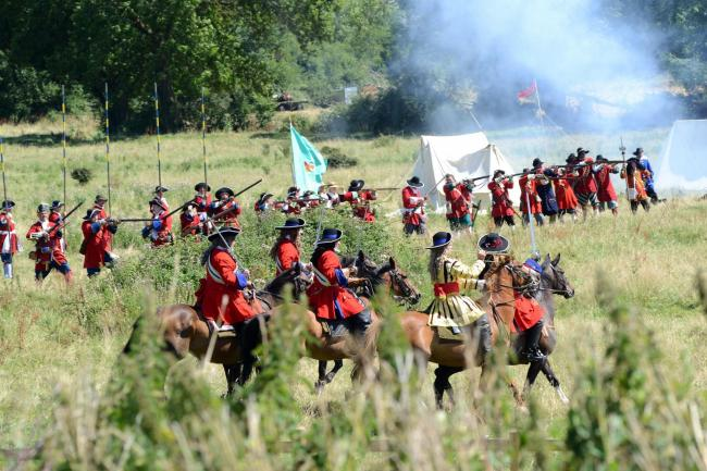 HERITAGE: A re-enactment of the Battle of Sedgemoor in 1685 at St Matthew's Field
