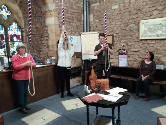 Bellringing in St Mary's Church, Bridgwater