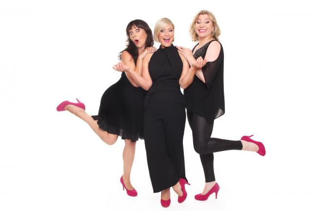 Hormonal Housewives - Josephine Partridge, Suzanne Shaw and Julie Coombe Photo: Rhian Cox