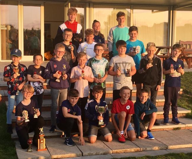Wembdon Cricket Club junior trophy winners and members of the Team of the Year