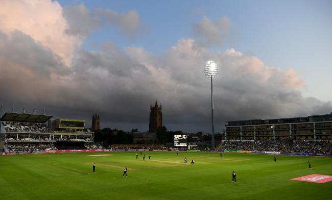Cooper Associates County Ground under lights. Pic: SCCC