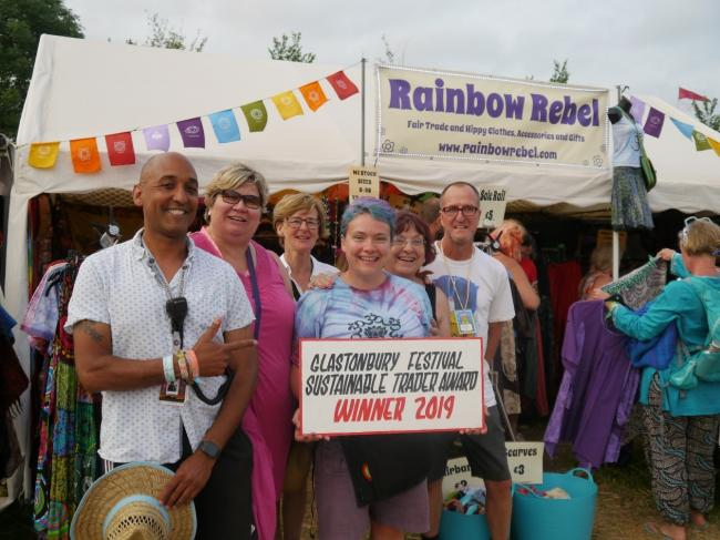WINNER: Rainbow Rebel, a winner of the Sustainable Trader Award at the 2019 Glastonbury Festival. PICTURE: Glastonbury Festivals