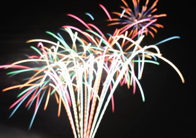 BLUR OF LIGHT: Bridgwater fireworks, by Malcolm Lewis