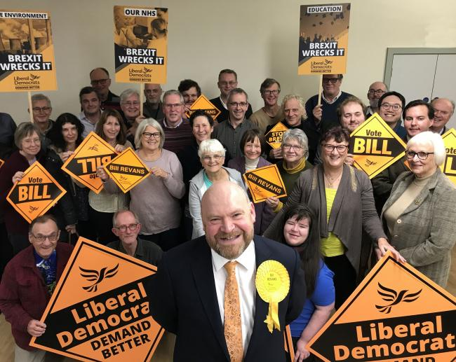LAUNCH: Bill Revans with Liberal Democrat members