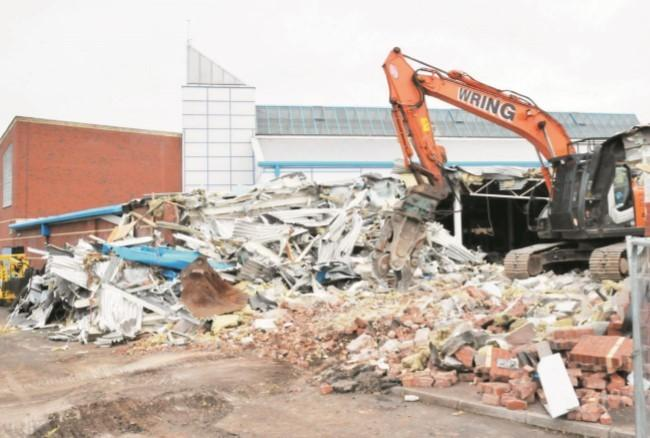 DEMOLITION: The end of the Sedgemoor Splash site