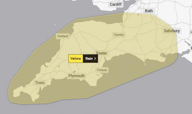WARNING: A wet weekend is ahead for Somerset