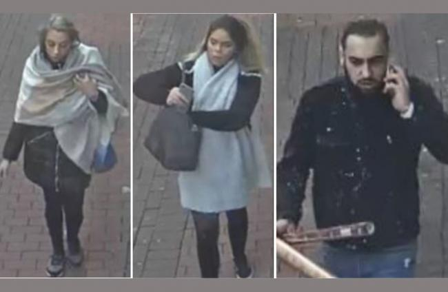Three people who police would like to speak to in connection to a bag theft in Bridgwater