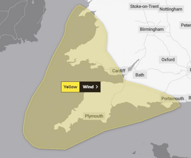 WEATHER WARNING: The Met Office warns of strong winds