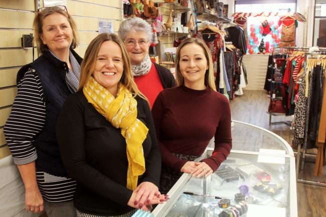 WELCOME: Volunteers at the re-opened store in Bridgwater