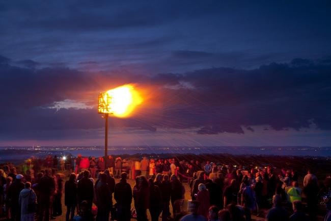 BEACON: Marking the Queen's Diamond Jubilee at Culver Down, Isle of Wight, in June 2012. PICTURE: National Trust Images/John Miller