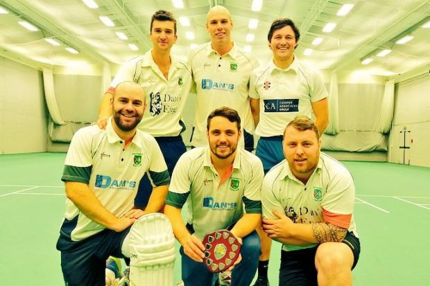 North Petherton CC SCB indoor cricket league winners (from left): Back - Harry Bowditch, Lewis Knight, Owen Irish; front: Paul Short, Lloyd Irish, Scott Briffett