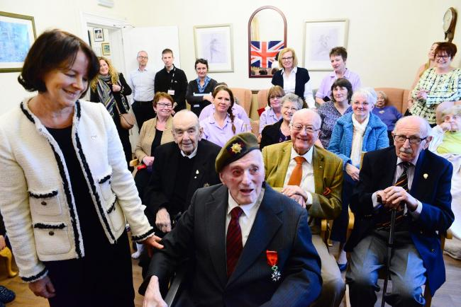 RECOGNITION: Maurice Stone received the Legion D'honneur