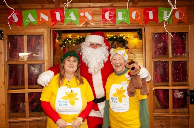 HELPING HAND: Marie Curie was one of the charity's that received funds from the grotto at Angel Place Shopping Centre