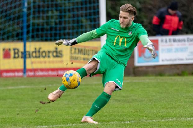MAN OF THE MATCH: Bridgwater Town goalkeeper Jake Viney. Pic: Debbie Gould