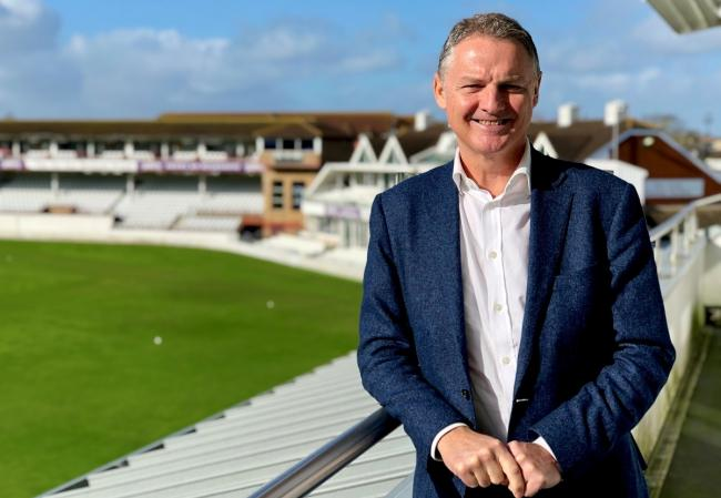 TAKING QUESTIONS: Somerset chief executive Gordon Hollins is to host a virtual members' forum next month (pic: SCCC)