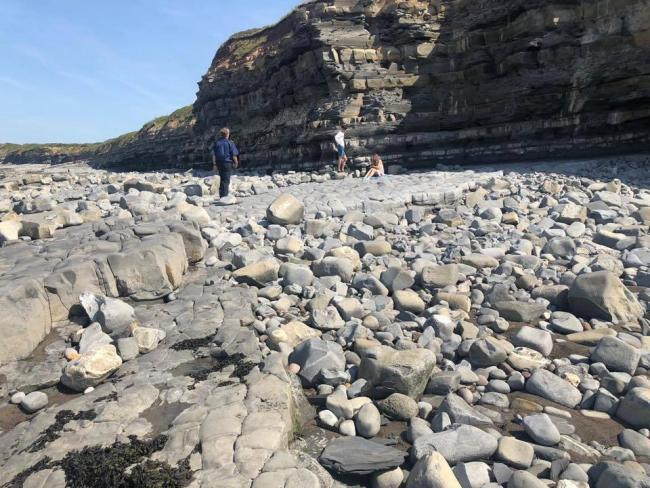 SAFETY FIRST: Watchet Coastguard is urging anyone heading to West Somerset beaches to avoid the base and edges of cliffs