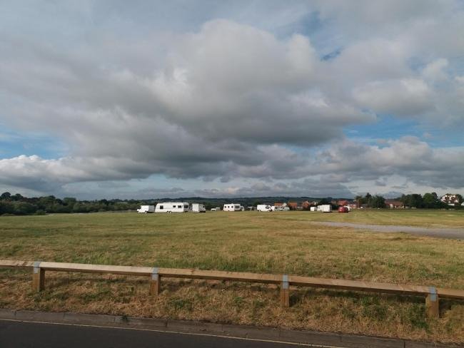 TRAVELLERS: Several caravans are currently pitched up