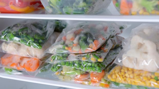 Bridgwater Mercury: Free up unused space by freezing foods flat in bags and stacking them on top of each other. Credit: Getty Images / serezniy