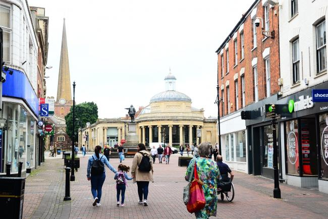 Bridgwater town centre ; Coronavirus ; shops re-open / re-opening.