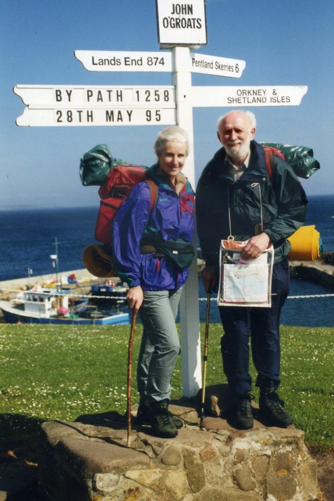 SETTING OFF: Beryl and Tony in 1995