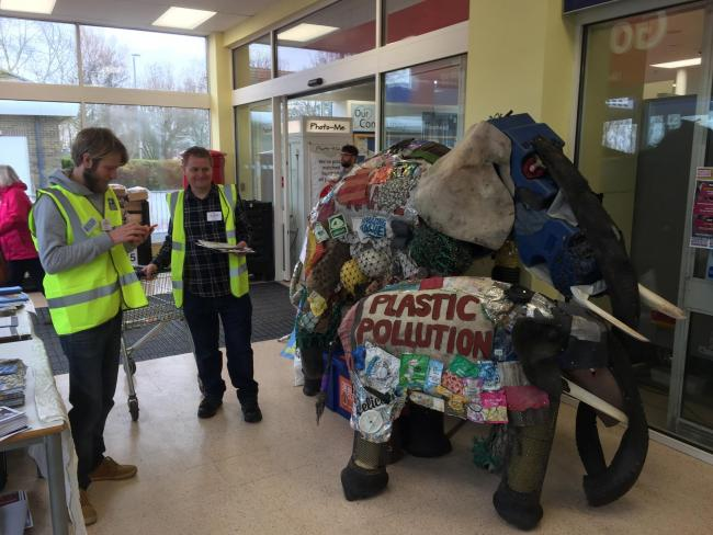 CAMPAIGN: At Tesco in Minehead