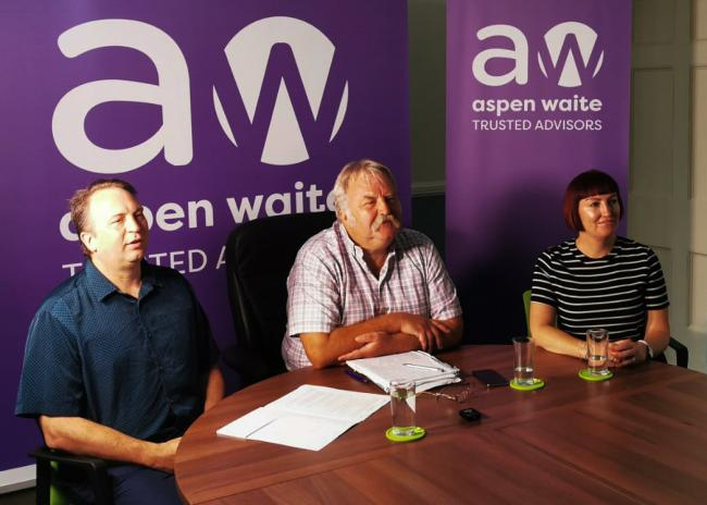 AGREEMENT: Darren Horne, Paul Waite,  and Clare Wiltshire of AWCUK signing the deal with Academe Enterprise from China using Zoom