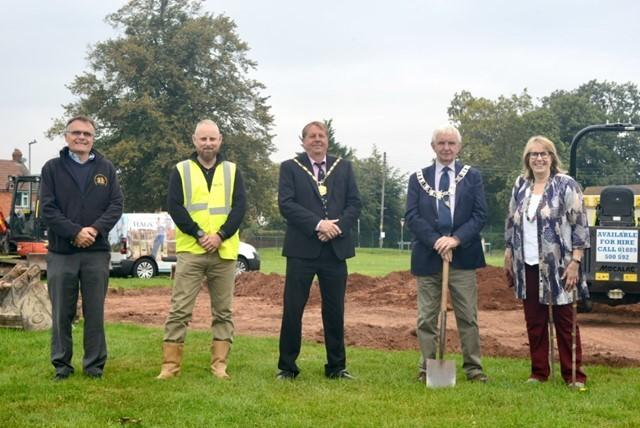 PROJECT BEGINS: Pictured from left to right are: Gary Hobbs, headteacher at North Petherton Primary School, Dan McAlwane, project manager HAGS, Peter Clayton, chairman of Sedgemoor District Council, Alan Bradford mayor of North Petherton and Linda Hyde, c