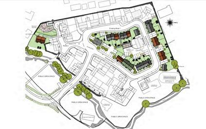 Bridgwater Mercury: Layout of the 27 homes. Pic: GJR Architects