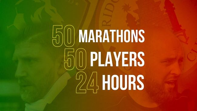 CLUBS UNITED: Yeovil United and Bridgwater Town Football Clubs are taking on a marathon challenge next month