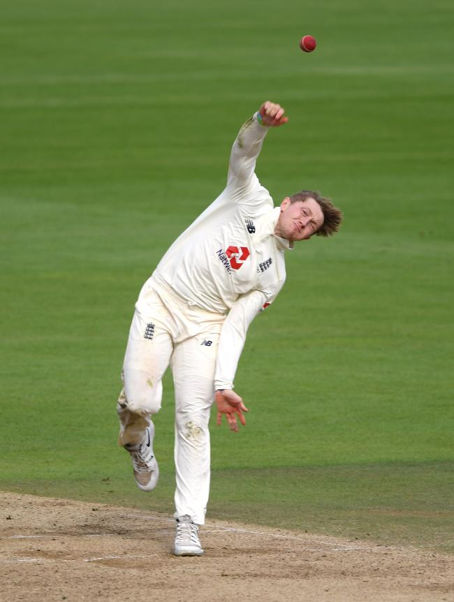 TOIL: Ex-Somerset spin bowler Dom Bess struggled to make much impression on the first day in Galle, as did Jack Leach (pic: PA Wire)