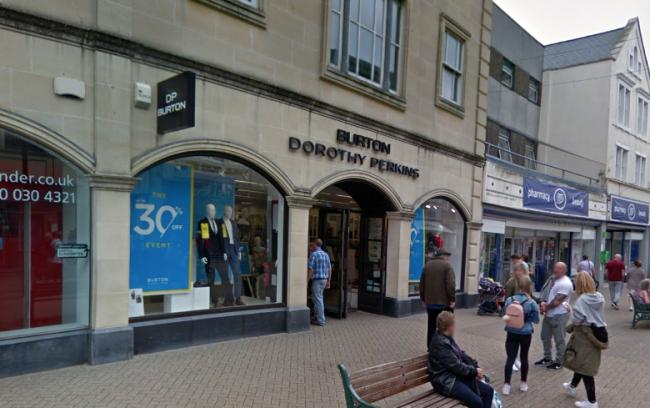 CLOSING: The Burton/Dorothy Perkins store in Weston super Mare. PICTURE: Google Street View