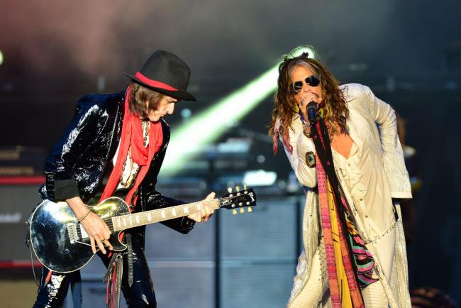 SOMERSET BOUND: Joe Perry and Steven Tyler of Aerosmith