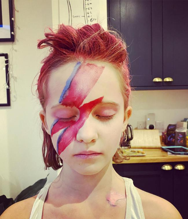 ZIGGY: Pearl Parkin as David Bowie (all pics: Save the Children/PA Wire)