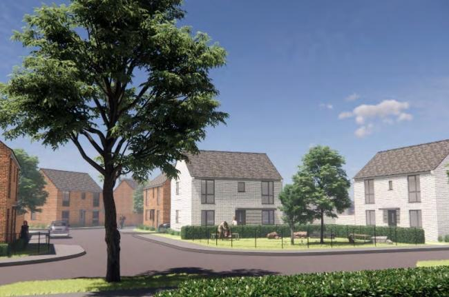 PLANS: Artist's impression of 80 homes on King's Road in Bridgwater. Pic: Thrive Architects.