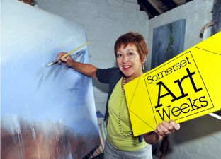 JUDITH Champion prepared to show her work during Somerset Art Weeks. PHOTO: Jeff Searle.