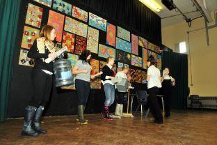 Robert Blake students do STOMP