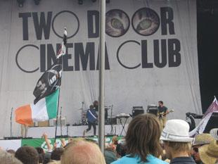 Bridgwater Mercury: TWO Door Cinema Club performing on the Pyramid Stage on Friday.