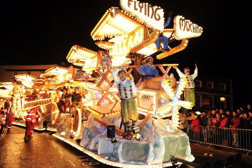 Bridgwater Mercury: One of the many carnival carts on display at Bridgwater Carnival