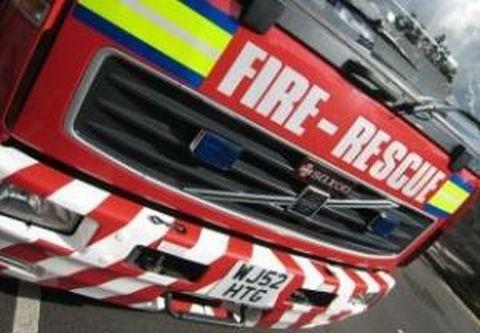 Security light sparks North Petherton fire
