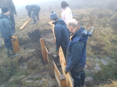 Bridgwater College's Countryside Management students work in Exmoor National Park