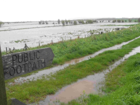 Storms and flooding hit Somerset Levels