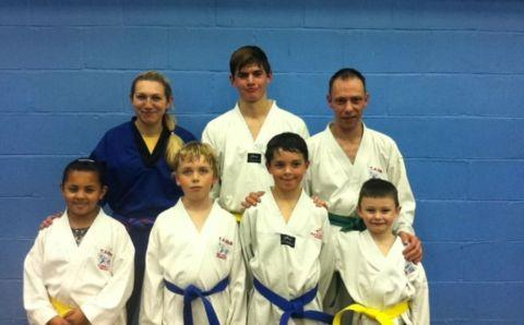 Taekwondo students success at grading event