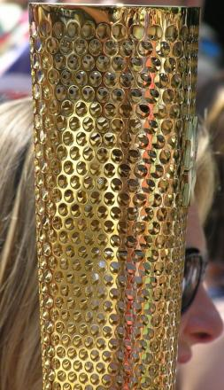 Claire's pride at Olympic Torch honour
