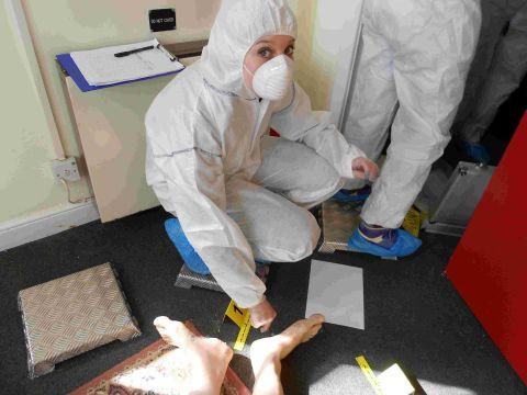 Bridgwater College students get their forensic gear on