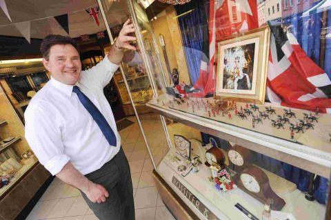 Keith Plaskett, manager of jeweller's Rossiter and Sons